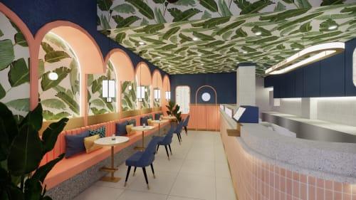 Interior Design by Studio Hiyaku seen at Westfield Parramatta, Parramatta - Cha Bar Westfield Parramatta