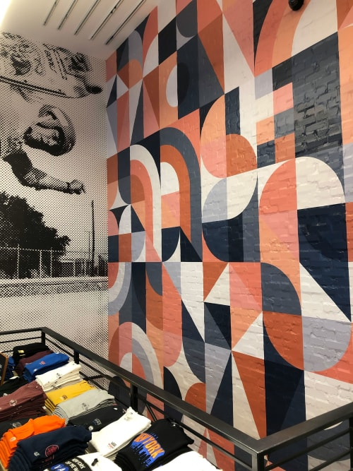 Murals by Scott Albrecht seen at Vans, New York - Vans In-Store Wall