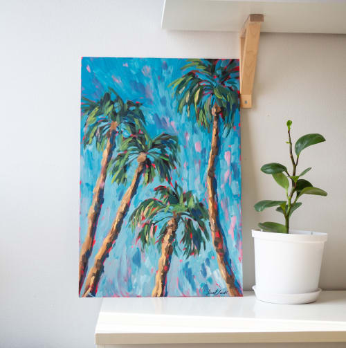 Paintings by Lina Vonti seen at Private Residence, Turku - Palms study