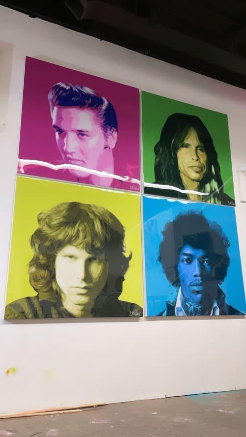 Murals by Diogo Snow seen at Creator's Studio, Toronto - Rockstars legends