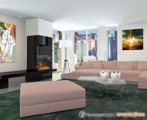 Interior Design by European Home seen at Private Residence, Middleton - E810 Electric Fireplace