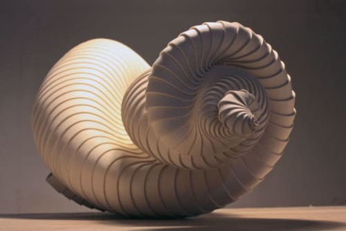 Sculptures by Mecedes Vicente seen at Design Museum, London - Scalaria Bifurca