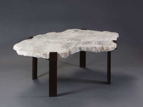 Tables by Ron Dier Design seen at Palm Beach, FL, Palm Beach - Selenite Table