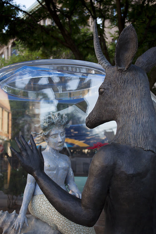 Public Sculptures by Kathy Ruttenberg at West 157th Street, New York - Fish Bowl