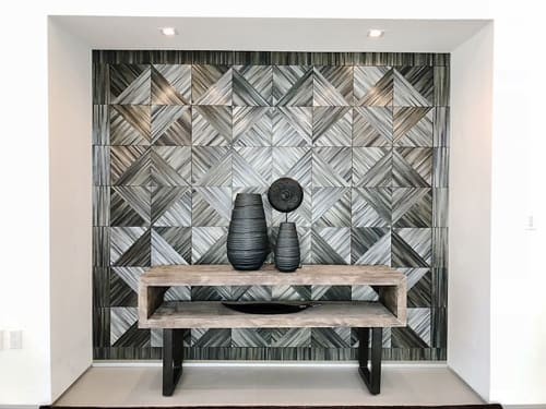 Wall Treatments by Straw & Design Co. seen at Private Residence, Marina del Rey - Beach House Straw Wall