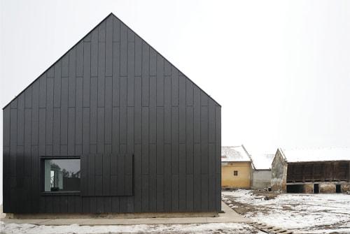 Architecture by studio AUTORI seen at Mokrin House, Mokrin - House B