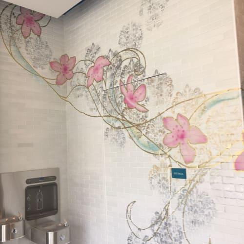 Murals by Osiris Rain Studios seen at Cadence Music Factory Apartments, Charlotte - Interior Mural