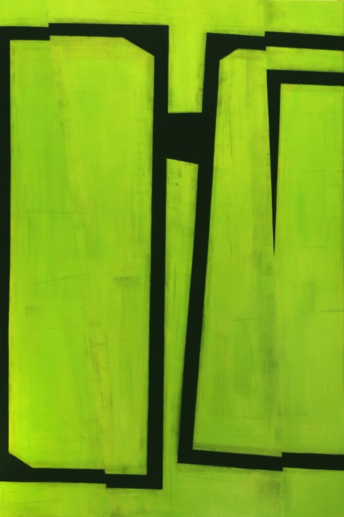 Jump Cut E4: Oil on Canvas, 84 x 56, 2019   Paintings by Steven Baris   Nordstrom NYC in New York
