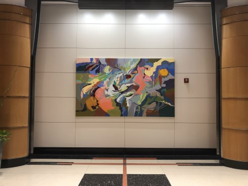 Paintings by HIROKO YOSHIMOTO seen at Properties Boston, Reston - Biodiversity #118