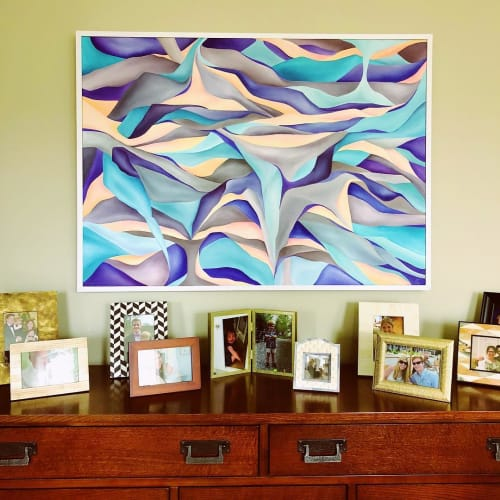 Paintings by Lucy Corwin seen at Private Residence, Salt Lake City - Flood
