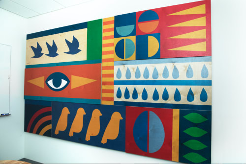 "Art & Wall Decor by ANTLRE - Hannah Sitzer seen at Google Events Center, Redwood City - ""Birds Eye"""