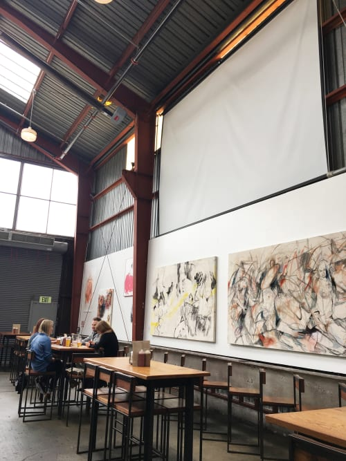 Paintings by Katherine Boxall at Southern Pacific Brewing, San Francisco - MILK (I) & (II)