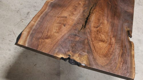 Tables by SAW Live Edge seen at Creator's Studio, Kimberley - Live Edge Claro Walnut Dining Table | Conference Table |