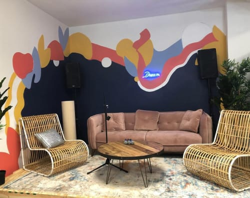 Murals by Ashley Jaye Williams seen at 323 Canal St, New York - Pop-Up Mural