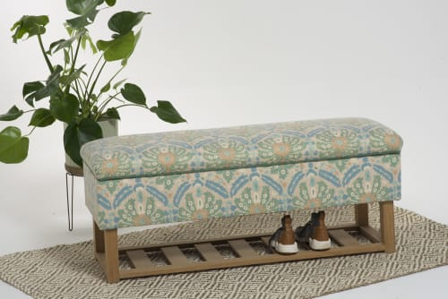 Seagram Floral   Benches & Ottomans by Sadie Dorchester