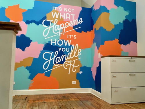 Murals by Amanda Paulson seen at CPH & Associates, Chicago - It's Not What Happens