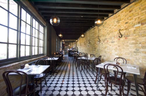 Tiles by Otto Tiles And Design seen at East London Liquor Company, London - Moon Lights Cement Tiles