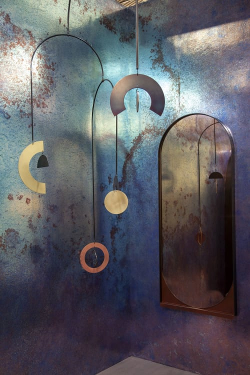 Murals by Wallpaper Projects seen at The Architectural Digest Design Show, New York - Patina Study 8 with Kin and Company