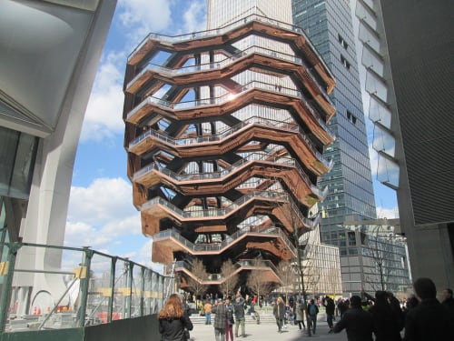 Architecture by Heatherwick Studio seen at Hudson Yards, New York - The Vessel