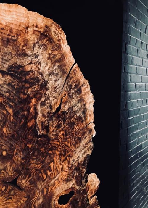 Furniture by Live Edge Lust seen at Creator's Studio, Fort Worth - Claro Walnut Burl Epoxy Casted Barn Doors