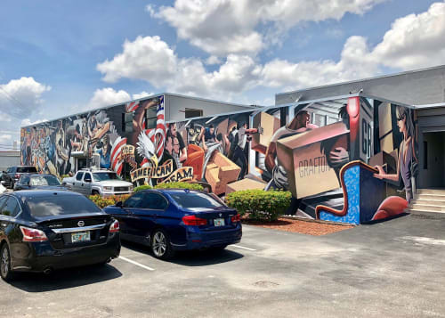 Murals by Andrew Reid SHEd seen at Grafton Furniture Co, Miami - Grafton Furniture Wrap