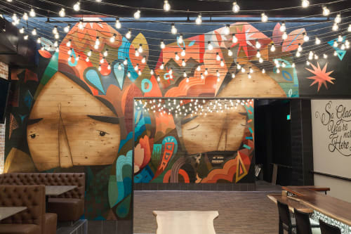 Murals by Pedro Barrios Art seen at Canopy, Denver - Mural at Canopy