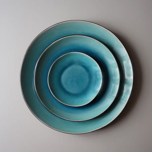 Ceramic Plates by Mieke Cuppen seen at Bistrobar Berlin, Nijmegen - Gastro plate Seablue