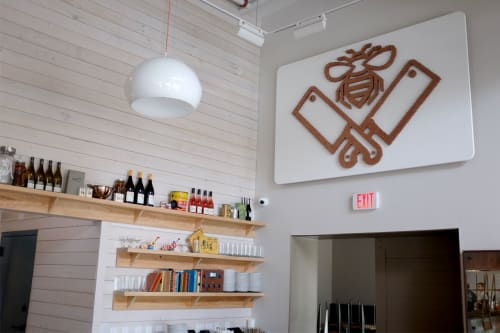 Sculptures by Sisal Creative at Butcher & Bee, Charleston - Butcher & Bee Logo