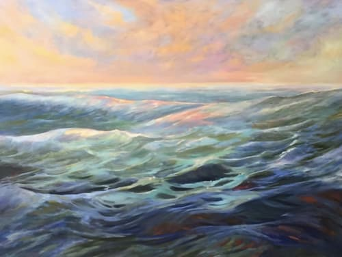 Paintings by Diane Larson Fine Art seen at Private Residence - Seascape Painting