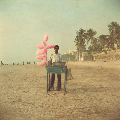 Photography by Nadia Attura seen at Private Residence, London - Candy Floss beach