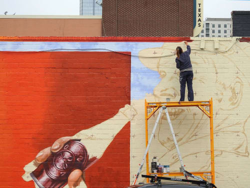 Street Murals by Anat Ronen seen at Houston, Houston - Dr Pepper - Core murals