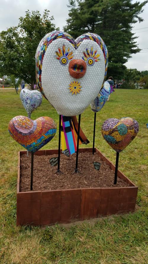 "Public Mosaics by Carol Krentzman seen at Private Residence, Natick - ""...of Peace I Sing"" aka ""Rainbow Rita"""