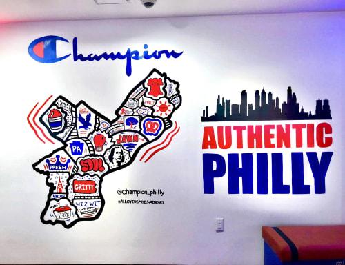 Murals by Alloyius Mcilwaine Art seen at Champion, Philadelphia - Champion Mural