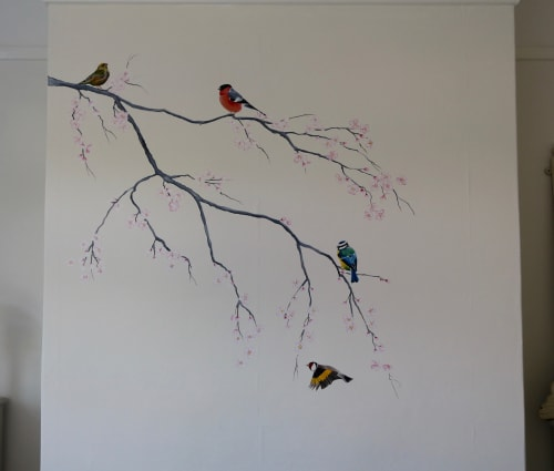 Murals by Louise Dean - Artist seen at Private Residence, Langton Green - English Birds in a Bedroom