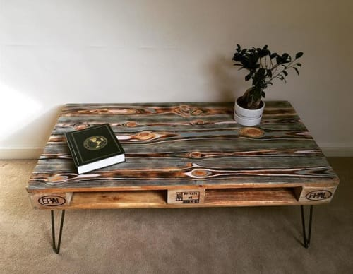 Tables by Nomad Timber seen at Private Residence, Cardiff - Evil Eye