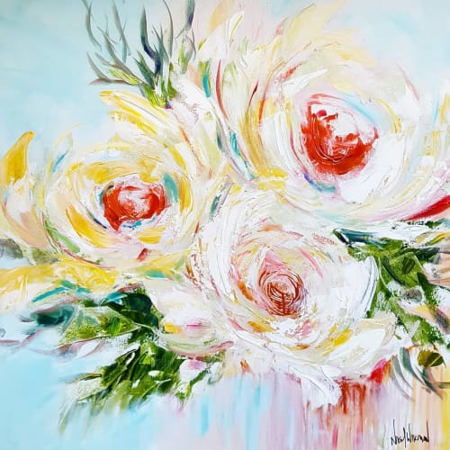 """Paintings by Nikol Wikman seen at Private Residence, Victoria - """"Happiness Blooms"""" Painting"""