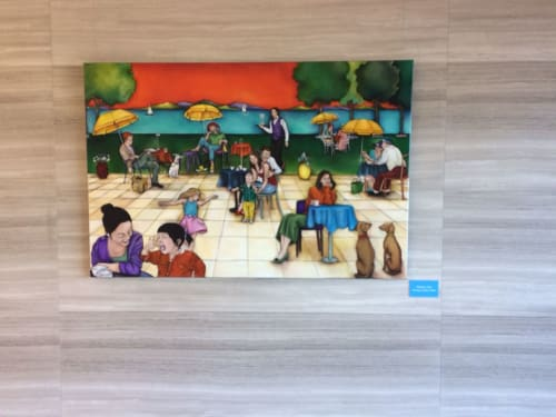 Paintings by Lauryne Hart seen at Takapuna, Auckland - Modern Life