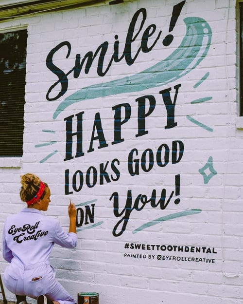 Art Curation by EyeRoll Creative seen at Metairie, Metairie - Sweet Tooth Dental