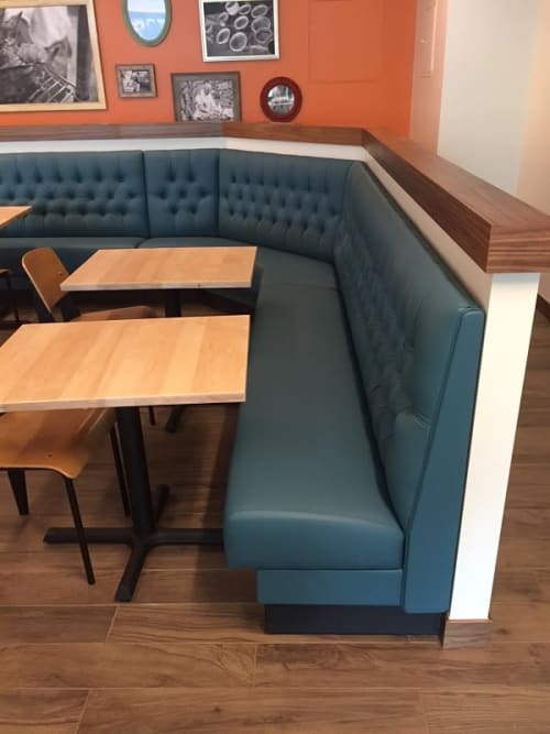 Couches & Sofas by Phillip Ramos Upholstery, Inc. seen at Etai's Bakery Cafe, Denver - Seating Upholstery