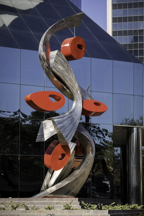 Public Sculptures by CJRDesign at First Tennessee Bank building, Jacksonville - Entwined