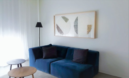 Art & Wall Decor by Karine Demers Artiste at Private Residence, Montreal - Colors