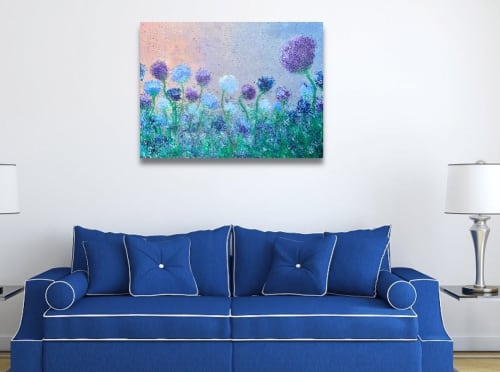 Paintings by Siobhan McEvoy seen at Private Residence, Norwich - Blue Flowers
