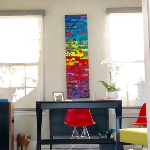 Paintings by Jeff Hanson seen at Private Residence, Carlsbad - Rainbow