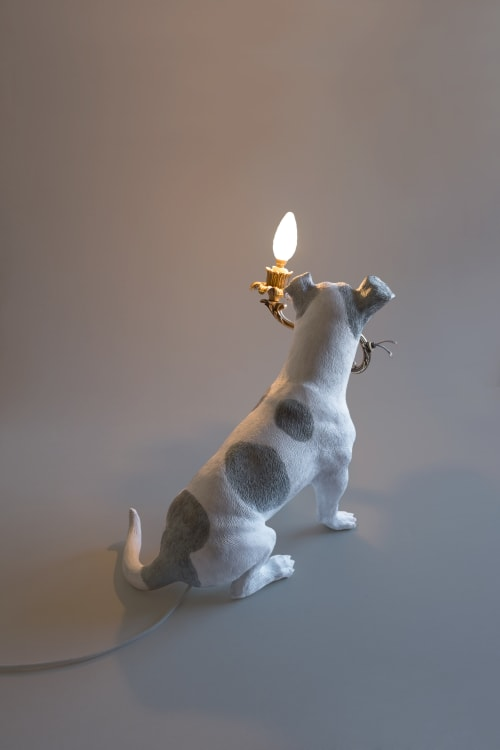 Sculptures by MARCANTONIO seen at Rossana Orlandi, Milano - 5 Minutes Alone (Dog with lamp)