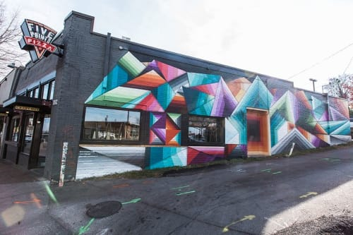 Street Murals by Nathan Brown seen at Private Residence, Nashville - Google Fiber mural