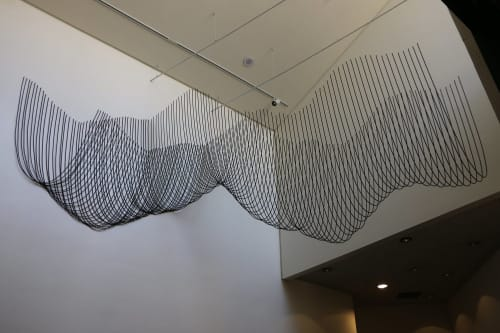 Sculptures by Katy Ann Gilmore seen at Azusa Pacific University, Azusa - Catenary Galaxy (Iteration 2)