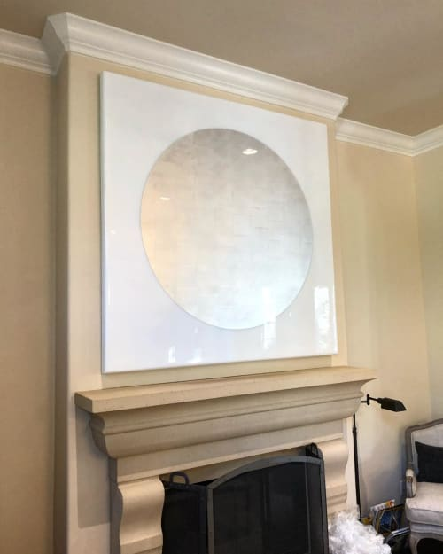 "Wall Hangings by Pierce Meehan Design at Private Residence, Irvine - ""Luna"" Surf Panel Art"