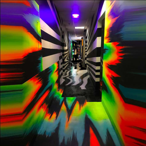Murals by Zach Slive Keiss seen at Denver Selfie Museum, Denver - Mural installation
