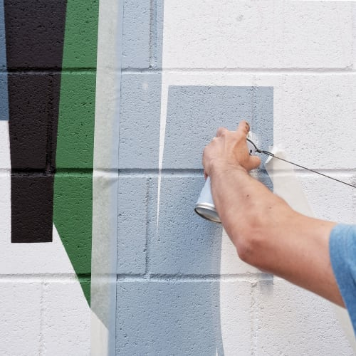 Murals by Spogo seen at Barcelona, Barcelona - Poblenou