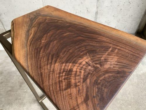 Tables by Hazel Oak Farms seen at Private Residence, Seattle - Waterfall Walnut C-Table